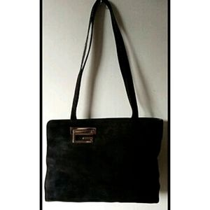 Authentic GUCCI Black Suede Bag - Made in Italy